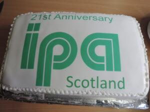 21st anniversary cake